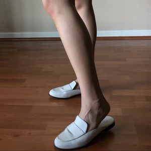 Urban Outfitters Shoes - White leather mules